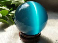 Cat's Eye Crystal Ball Sphere 40mm +stand #004