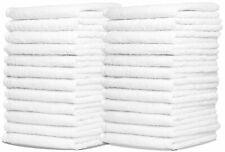 Wash Cloth-100% Cotton 12x12 inches Face/finger/Wash Cloth White