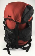 "Vintage Nike 24"" Red Black Backpack Daypack Hiking Backpacking Large Gym Bag"