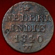 Netherlands East Indies 1 Cent 1840 W  ---m97