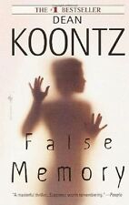 False Memory - Dean Koontz PB GC Physociological thriller 'Fear for your mind'