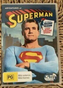 Adventures Of Superman Complete Second Season Region 4 5xDVD VGC Free Postage