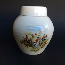 Rare Bristol Pottery R. Twining Co. Ltd. London Tea Caddy Jar Fox Hunt Artwork