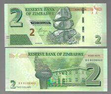 ZIMBABWE 2 DOLLARS, 2016, P-99, UNC BANK NOTE -