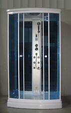 Box idromassaggio 120x80 sauna rettangolare radio cromoterapia doccia centrale|e