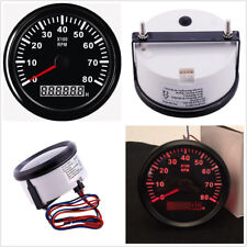 12V/24V Car Marine Tachometer Boat Tacho Meter Gauge LCD Hourmeter 8000 RPM 85mm