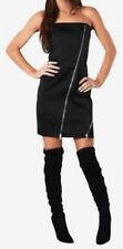 Black Alice olivia Satin Zipper Club Dress NWT Size 8 $395