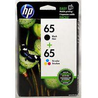 2018-2019 NEW HP 65/65 GENUINE BLACK & COLOR INK SET for Deskjet 2655 3720 3722