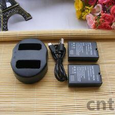 2X EN-EL14 ENEL14 battery+charger for Nikon D5100 D3100 P7100 D3200 D5200 MH-24