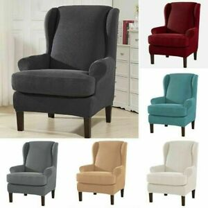 Armchair Wingback Chair Cover Sofa Couch Stretch Slipcover Furniture Protector