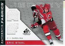 2007-08 SPGU Authentic Fabrics Eric Staal JSY #AF-ES Carolina Hurricaines