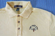 APGAR FAMILY ASSOC  ANCESTRY TREE MENS COTTON KNIT POLO SHIRT SIZE L