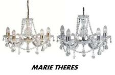 SEARCHLIGHT MARIE THERESE Glass Crystal Chandelier Chrome or Brass