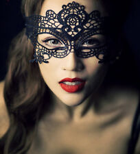 Sexy Women Foreplay Black Lace Costume Party Fancy Dance Dress Eye Face Mask DIY