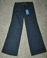 NWT $58-Womens Simply Vera Vera Wang Dark Blue Wide Leg Denim Jeans Pants-size 2