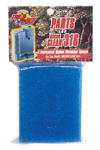 Zoo Med Mascota Micro 316 Mecánico Azul Esponja Cojín 3 Pack Tortuga Filtro