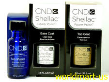 CND Shellac Gel UV/LED Soak-Off : Base 0.25fl oz & Top 0.25fl oz & Primer 0.5oz