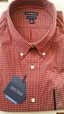 Croft & Barrow Classic Fit Easy Care Dress Shirt Red Med 34/35 NWT