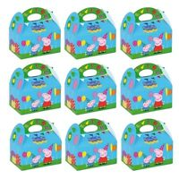 Peppa Pig Kids Birthday Party Loot Bag Food Gift Cake Printed Lunch Boxes 395750