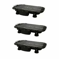 Electric Outdoor Barbecue Grill (Black) Set of 3
