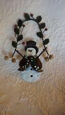 "Snowman Christmas Hanging Decoration 6.5"" Tall"