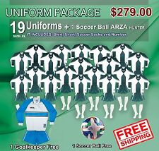 Uniform Arza Universidad AR-2 for Soccer. Package $ 279.00, Color Green-White