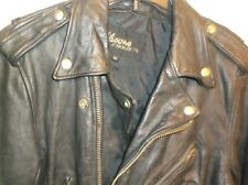 wilson mens leather motr cycle jacket size 40 preowned