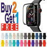 Band Strap + Screen Protector For Apple Watch SE/6/5/4/3/2 iWatch 44/42/40/38mm