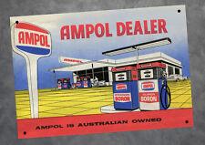 Ampol Dealer Petrol Oil Man Cave Metal A4 Sign