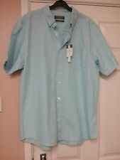 Men's Pale blue Short sleeve Cotton Casual Shirt Size XXL Bnwt