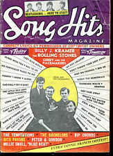USA 1964 Song Hits Magazine Vol. 28 No.8  Gerry & Pacemakers  Rolling Stones