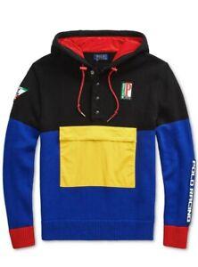 Polo Ralph Lauren Men's 1992 Racing Graphic Color Block Hooded Sweater XS $248