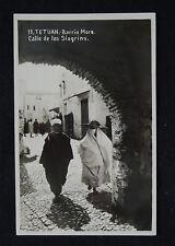 SPANISH MOROCCO photo card Tetuan 1937 military censored ERROR Milita without R