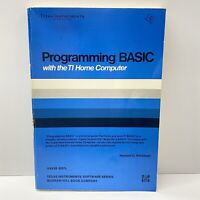 Programming  BASIC with the TI Home Computer 99/4A Manual, 1980
