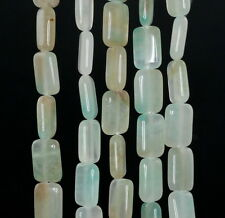 12X8MM CREAMY OPAL GEMSTONE  BLUE RECTANGLE LOOSE BEADS 16""