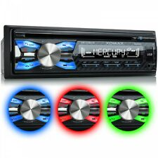 RADIO DE COCHE AUTORADIO CON LECTOR CD BLUETOOTH MANOS LIBRES USB SD MP3 1DIN