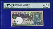 Angola 20 ESCUDOS 1973 GEM UNCIRCULATED EPQ PMG65 CL-1