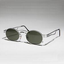 Silver Steampunk Optical Quality Vintage Sunglass Green Lens - Iggy