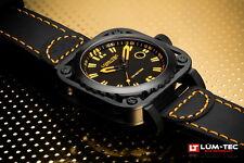 Lum-Tec Watch G7 Mens Orange & Black Leather Limited Edition AUTHORIZED DEALER