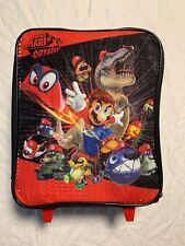 Super Mario Odyssey Rolling Bag Luggage Travel Children Nintendo Backpack