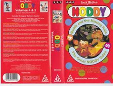 NODDY   THE GREAT NODDY VIDEO VOLUME 4 AND 5  VHS VIDEO PAL~ A RARE FIND
