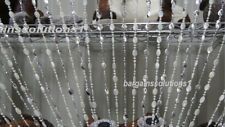 Stylish White & Silver Plastic Beaded Curtain Blinds Fly Insects Door Curtains.
