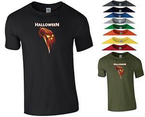 Halloween Movie T Shirt Scary Horror Pumpkin Michael Myers Joke Gift Men Tee Top