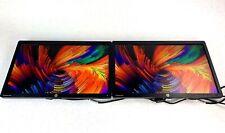 """Dual 2x HP EliteDisplays E221 21"""" LED Backlit LCD Monitors 1920x1080 - Grade B"""