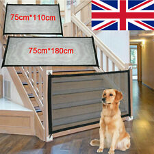 More details for retractable pet dog gate safety guard mesh magic pet dog gate baby stair gate uk