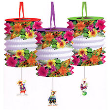 CARIBBEAN PARROT PARTY PAPER LANTERNS (3) ~ Birthday Supplies Decorations Summer
