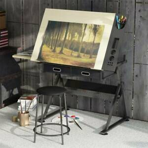 Adjustable Drafting Table Wooden Art Drawing Board Table Desk Drafting Table