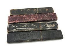 4 Vintage Straight Razor Case Cases BOX ONLY