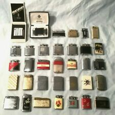 Collection of 34 Vintage Lighters Ronson Zippo Kreisler Flamex Scripto Howard