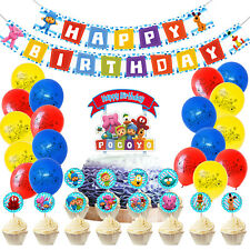 Pocoyo Birthday Party Supplies Banner, Cake and Cupcake Toppers, Balloons